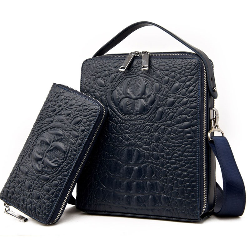 Ericdress Croco-Embossed Men's Handbag