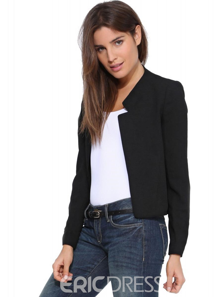 Ericdress Stand Collar Plain Slim Short Blazer