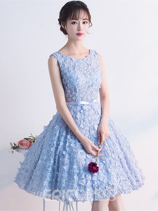 Ericdress Short A Line Bowknot Lace Knee Length Homecoming Dress