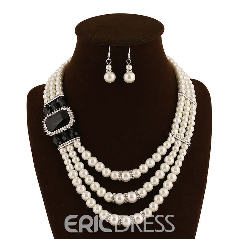 Ericdress Multilayer Pearl Jewelry Set for Women