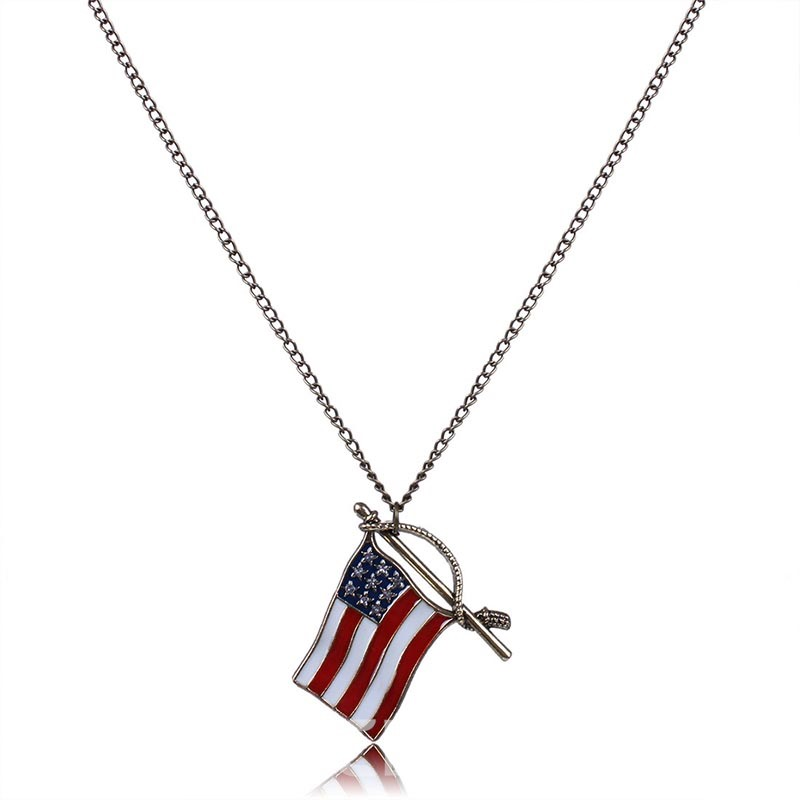 Ericdress Creative All Match Flag Pendant Necklace