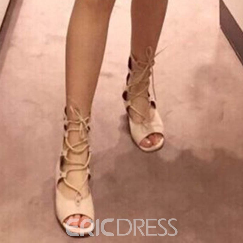 Ericdress Roman Cut Out Backless Wedge Sandals