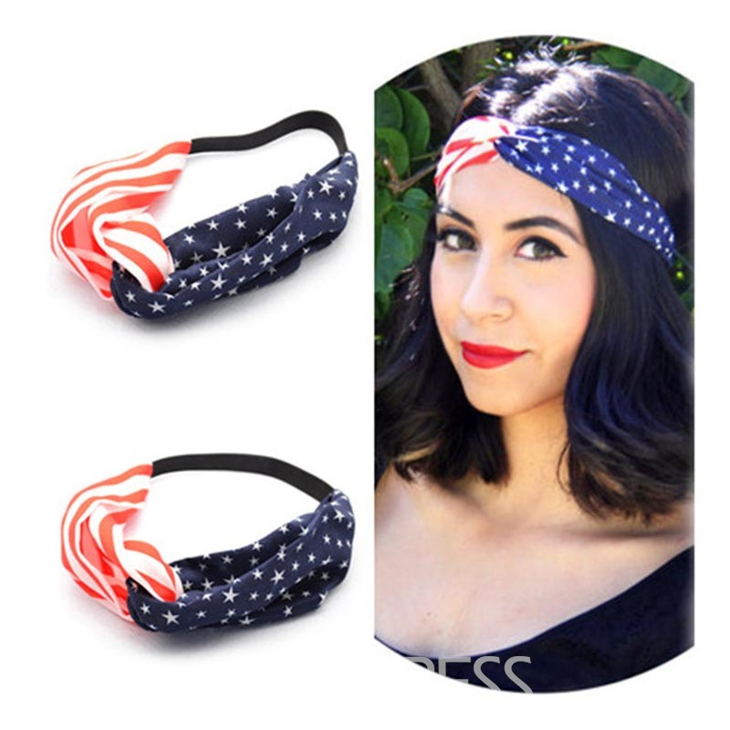 Ericdress Casual American Flag Printed Hair Accessories
