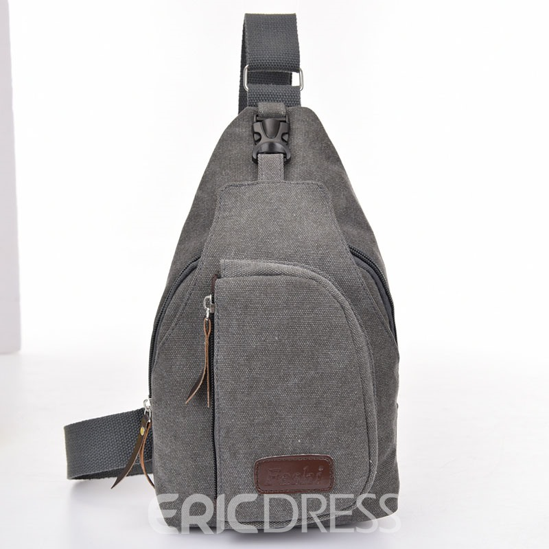 Ericdress Multipurpose Canvas Chest Pack
