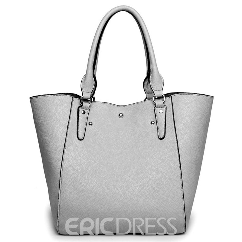 Ericdress Occident Style PU Leather Tote Bag