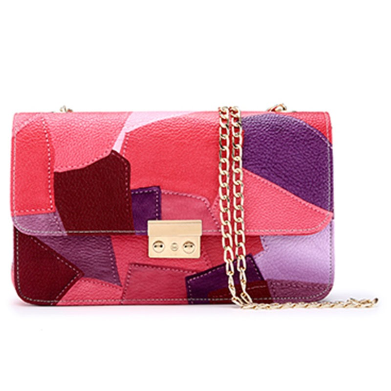 Ericdress Fashion Color Block Chain Crossbody Bag