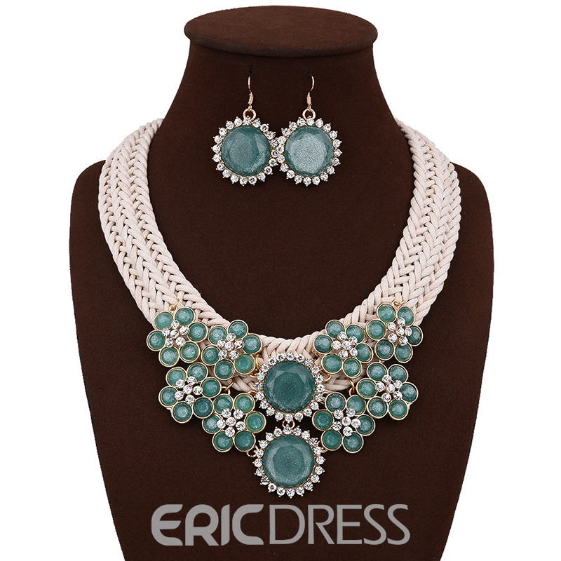 Ericdress New Style Acrylic Flower Women's Jewelry Set