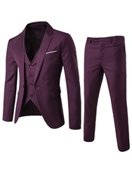 Ericdress Plain Three-Piece of Casual Slim Mens Suit фото
