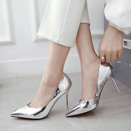 Ericdress Chic OL Patent Leather Point Toe Pumps