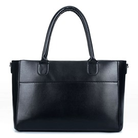 Ericdress Simple Solid Color PU Tote Bag
