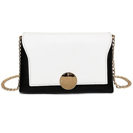 Ericdress Personality Color Block Cover Type Crossbody Bag