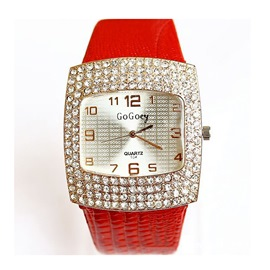 Ericdress Fashionable Square Fully-Jewelled Women's Watch
