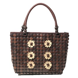 Ericdress Retro Coconut Husk Knitted Tote Bag