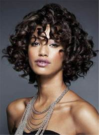 Ericdress Short Kinky African American Curly Synthetic Hair Capless Women Wigs 10 Inches
