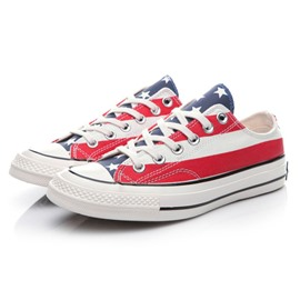 Ericdress Chic Flag Print Lace up Canvas Shoes