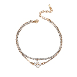 Ericdress Four-Stone Fully-Jewelled Anklet for Women