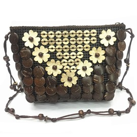 Ericdress Handmade Beads Coconut Adornment Crossbody Bag