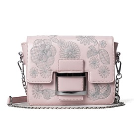 Ericdress Sweet Embroidered Flowers Chain Crossbody Bag