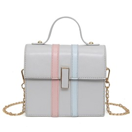 Ericdress All Match Color Block Crossbody Bag