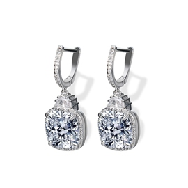 Ericdress White Sapphire Created Fashionable Earring