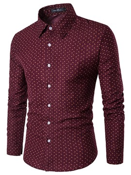 Ericdress Classic Floral Long Sleeve Men's Shirt