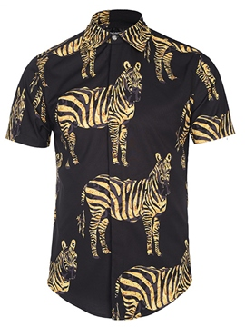Ericdress 3D Zebra Unique Print Men's Shirt