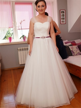 Ericdress Straps A Line Tulle Wedding Dress