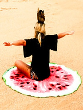 Ericdress Attractive Watermelon Print Round Beach Blanket