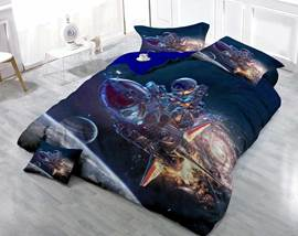 3D Science Fiction Theme Vintage Cotton 4-Piece Bedding Sets/Duvet Cover
