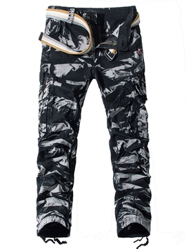 Ericdress Multi-Pocket Camouflage Casual Men's Pants
