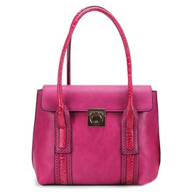 Ericdress Unique Color Block Women Tote Bag