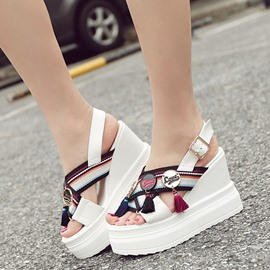 Ericdress Ethnic Platform Tassels Wedge Sandals
