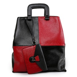 Ericdress Personality Color Block Splicing Handbag