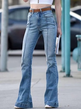Ericdress High-Waist Bellbottoms Jeans