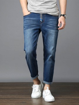Ericdress Nine-Point Leg Denim Loose Men's Pants