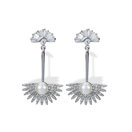 Ericdress Fan-Shaped Pearl Earring for Women