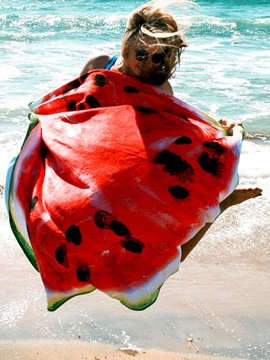 Ericdress Watermelon Print Round Beach Blanket