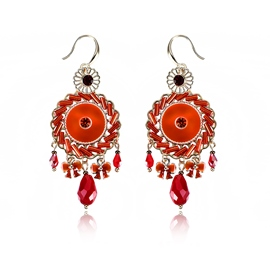 Ericdress Splendid Ruby Tassel Fashionable Earring