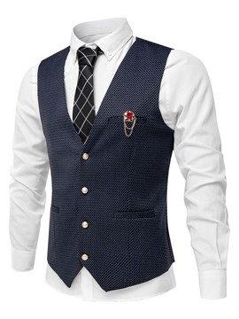 Ericdress Vogue Patchwork Plaid Slim Men's Vest