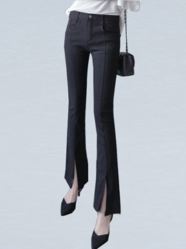 Ericdress High-Waist Plain Jeans