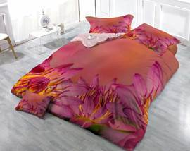 3D Blooming Red Flowers Printed Luxury Cotton 4-Piece Bedding Sets/Duvet Cover