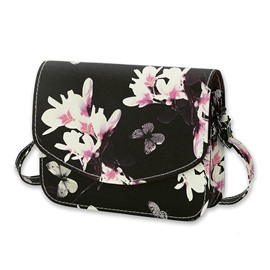 Ericdress Vogue Butterfly Floral Design Printing Crossbody Bag