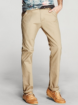 Ericdress Plain Straight Business Slim Men's Pants
