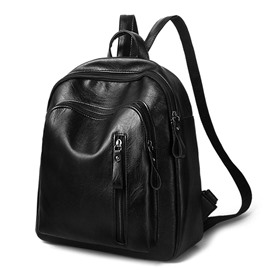 Ericdress Casual Zipper Design PU Backpack