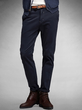 Ericdress Plain Quality Classic Slim Men's Pencil Pants