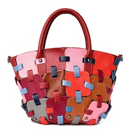 Unique Colorful Hand-Woven Pattern Handbag