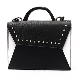 Ericdress Croco-Embossed Rivets Adornment Crossbody Bag
