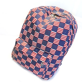 Ericdress Fashion American Flag Print Canvas Backpack