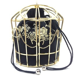 Ericdress vogue métal cage broderie crossbody bag