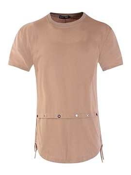 Ericdress Plain Unique Design Back Strap Vogue Casual Men's T-Shirt